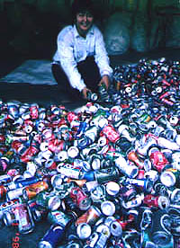 Why not recycle aluminum tin cans for charity?
